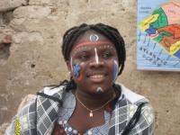 eine 14-jahrige Liberianerin bei den Afrika-Tagen Mering 2010