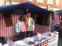hawa-und-thomas-boehner-fuer-ihre-medizinische-hilfsorganisation-help-liberia-auf-dem-muenchner-streetlife-festival-im-fruehjahr-2014