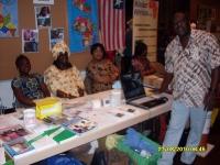 Liberianer präsentieren ihr Land auf einem Afrika-Tag in Taufkirchen 2010