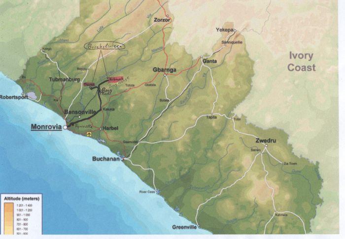 Wo der Verein arbeitet: Die Clinicen tief im liberianischen Busch