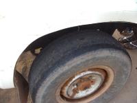 Das Reifenprofil unseres gemieteten Pick-Ups