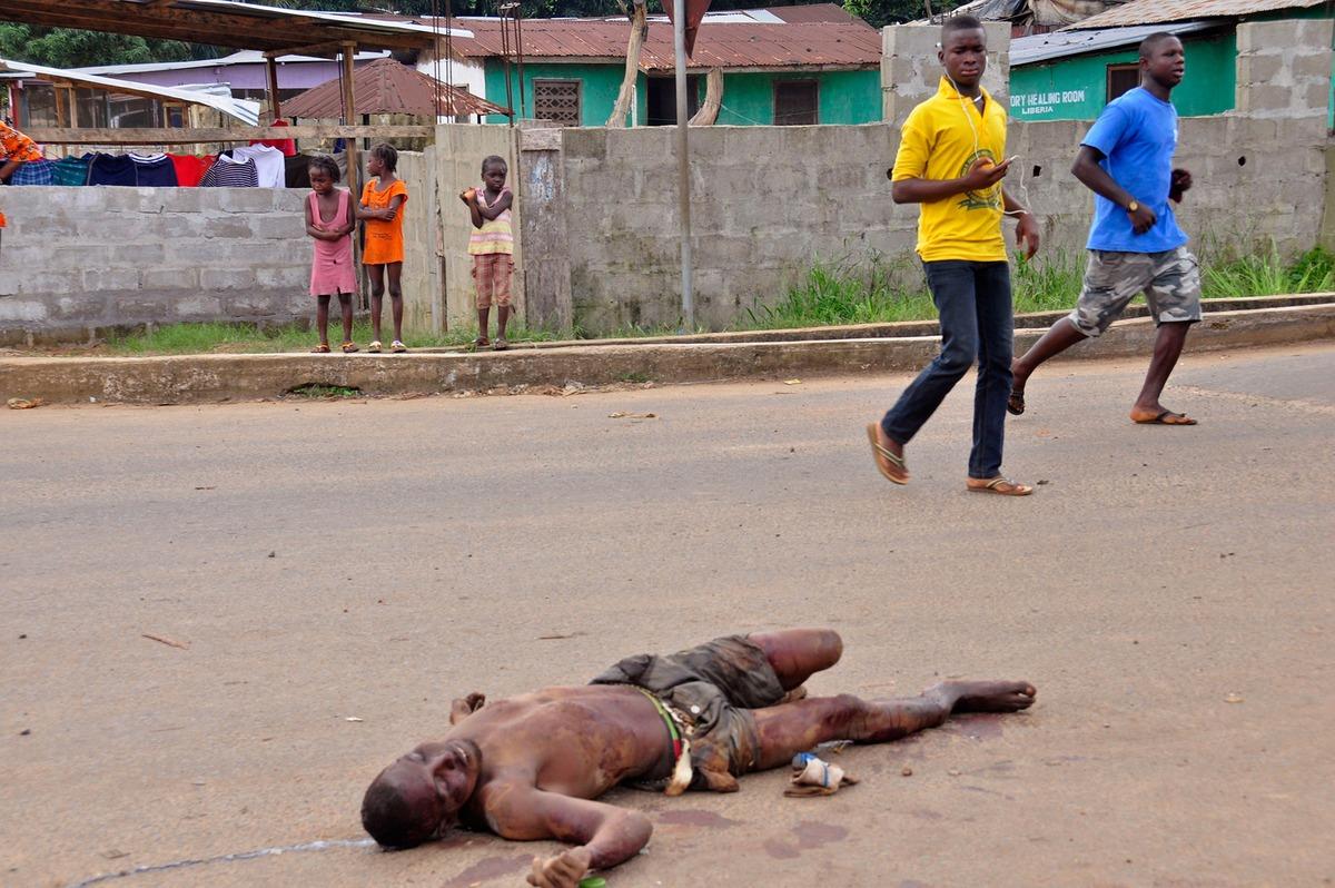 Am 5. August 2014 mitten in der Hauptstadt Monrovia