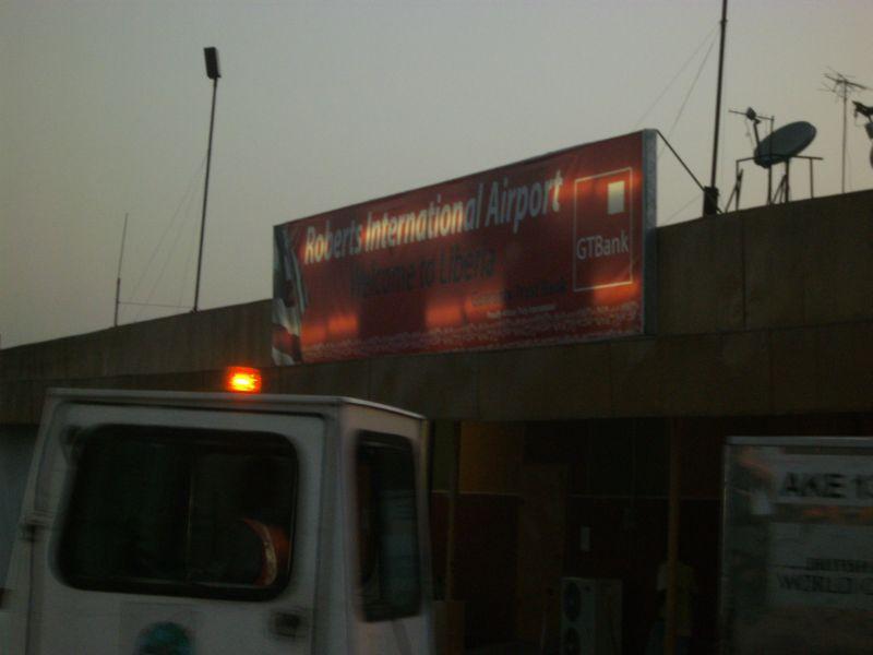 Der internationale Flughafen von Liberia Robertsfield