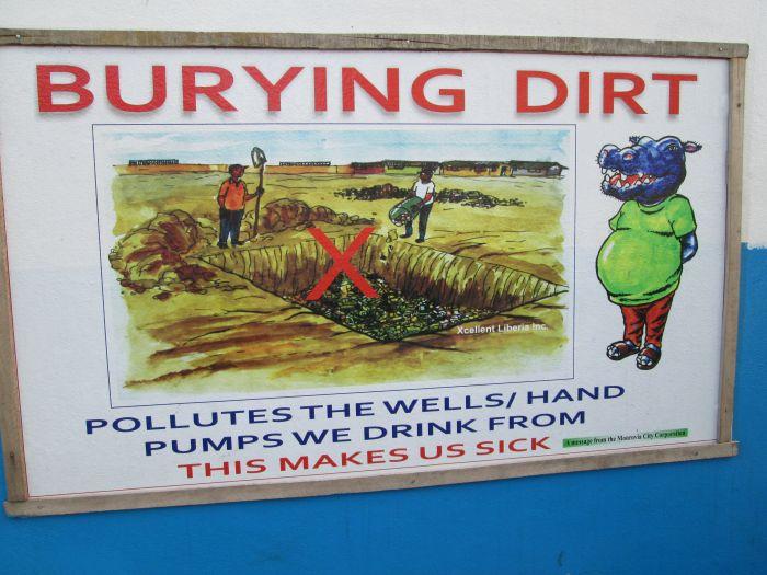 Nicht nur Abfall vergiftet das Trinkwasser, sondern auch Leichen