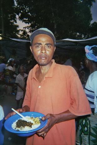 ein typisches liberianisches Essen